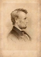 President Lincoln Antique Print