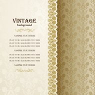 Vintage background, antique invitation card