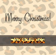 Animal Print Cracker Card