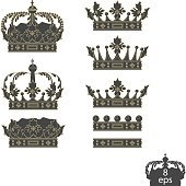 Grey crowns set