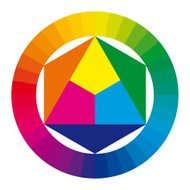 Color wheel with primary and secondary colors