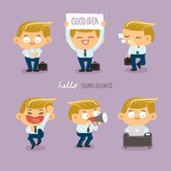 young business character design set2