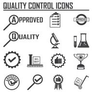 quality control icons. vector illustration EPS10