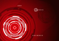 Mechanical abstract red background