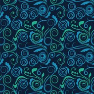 Seamless swirl pattern with dots