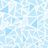 Sharp shapes blue triangles
