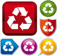 icon series: recycle (vector)