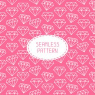 Vector seamless retro pattern with vintage hipster diamond.