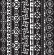pattern black and white, geometrical elements set