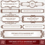 Vintage style banners and labels artistic design
