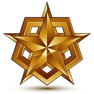 Wonderful vector template with golden star symbol