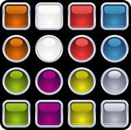 glossy metal framed buttons II