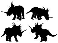Styracosaurus Silhouette Collection