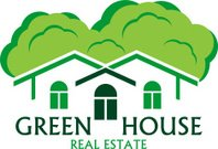 Vector house abstract real estate  label emblem.