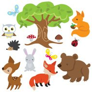 Animales del bosque vector illustration