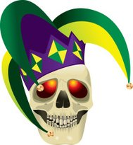 Skull with Jester Hat
