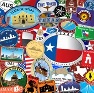 Texas Decal Collection