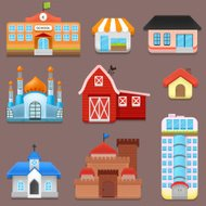 3D Vector Collection of City and Town Building