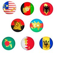 collection icons with countries