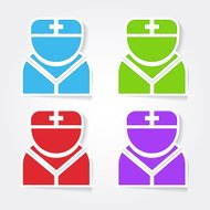 Nurse Colorful Vector Icon Design