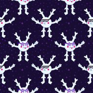 Cartoon snowflakes in sunglasses pattern