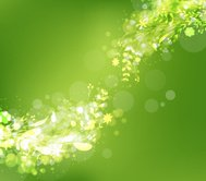 spring abstract with fresh green leaves