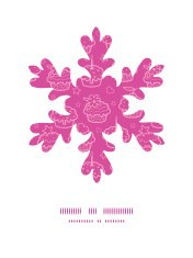 Vector colorful cupcake party Christmas snowflake silhouette pat