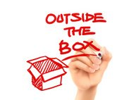 outside the box written by hand