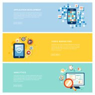 application marketing concept in flat design