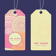 Vector doodle circle texture vertical round frame pattern tags s