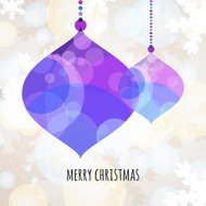 Abstract colorful vector bauble with winter background. Christma
