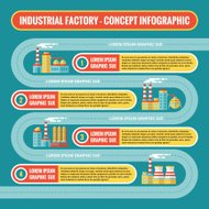 Industrial factory - infographic business concept in flat design