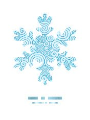 Vector abstract swirls Christmas snowflake silhouette pattern fr