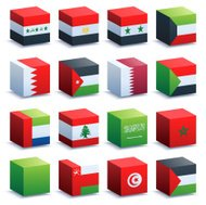 World Flag Cubes Arab Nations
