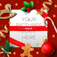 Christmas sale poster, vector illustration.