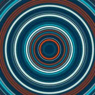 Coast Concentric Circle Abstract Pattern