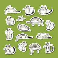 Stickers with funny cats for your design