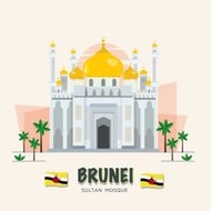 The grand mosque. landmark of brunei. ASEAN