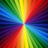 Rainbow colorful folded paper triangles background