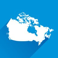 Blue Canada Map icon
