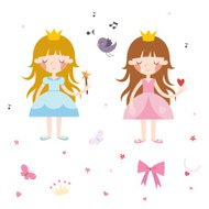Vector Collection of Pretty Princesses