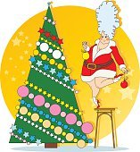 The Snow Maiden is decorated Christmas tree