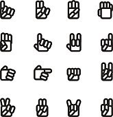 Hand Icons set 01/Black series-Chill Icons