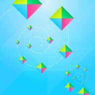 Triangles And Square Blue Abstract Background