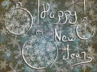 Winter card with New Year's greetings.