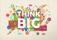 Think big quote poster design