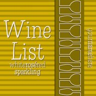 Retro inspired wine list with a modern touch