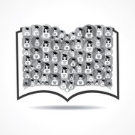 Book Icon made by graduate student icon stock vector