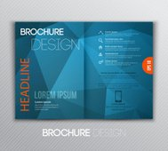 Abstract template brochure design with geometric background