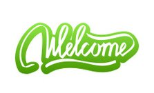 Welcome hand lettering calligraphy sticker